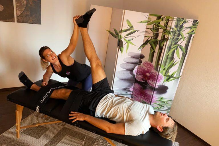 Fasziales Stretching mit Melanie
