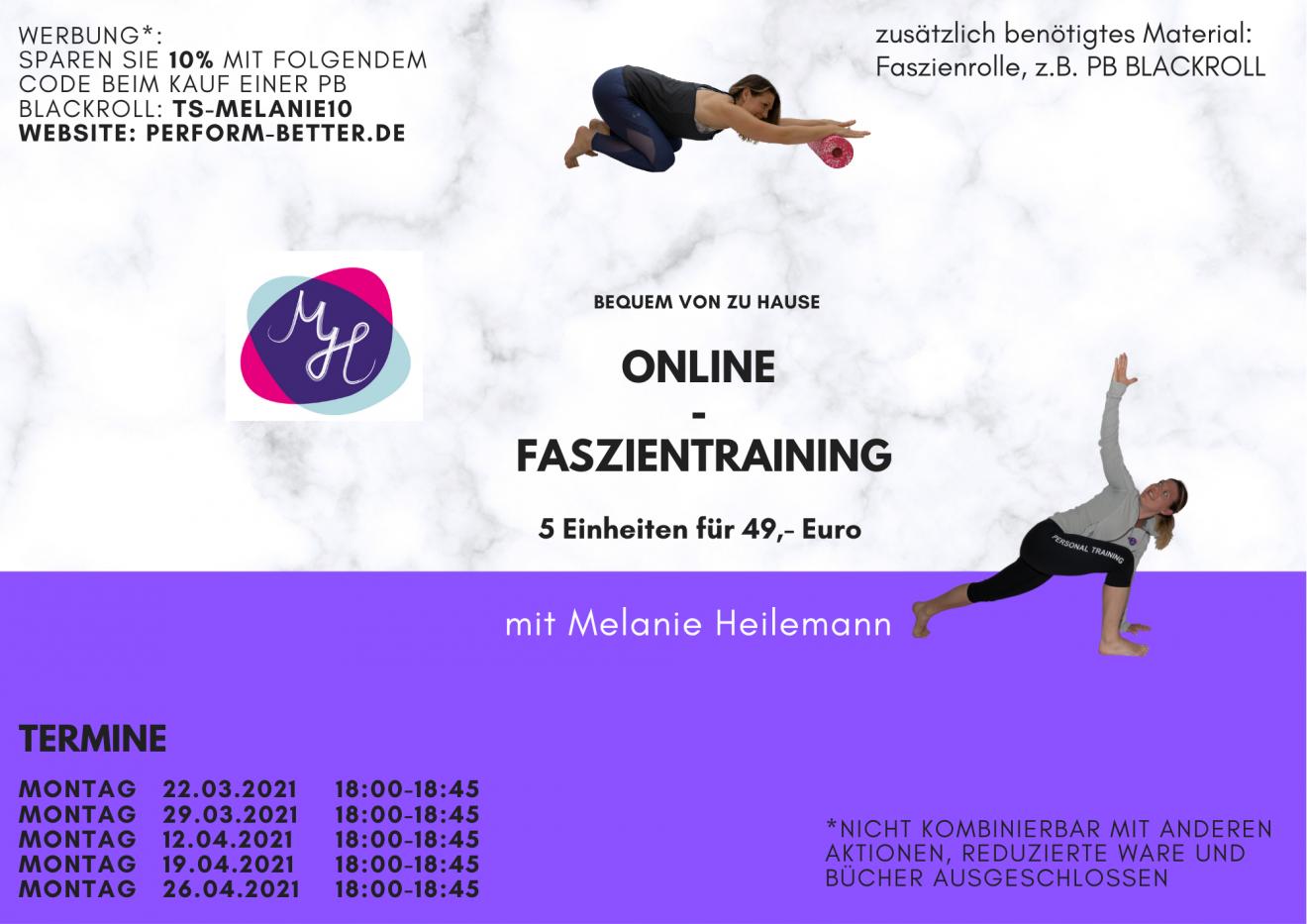 Online-Faszientraining März 2021