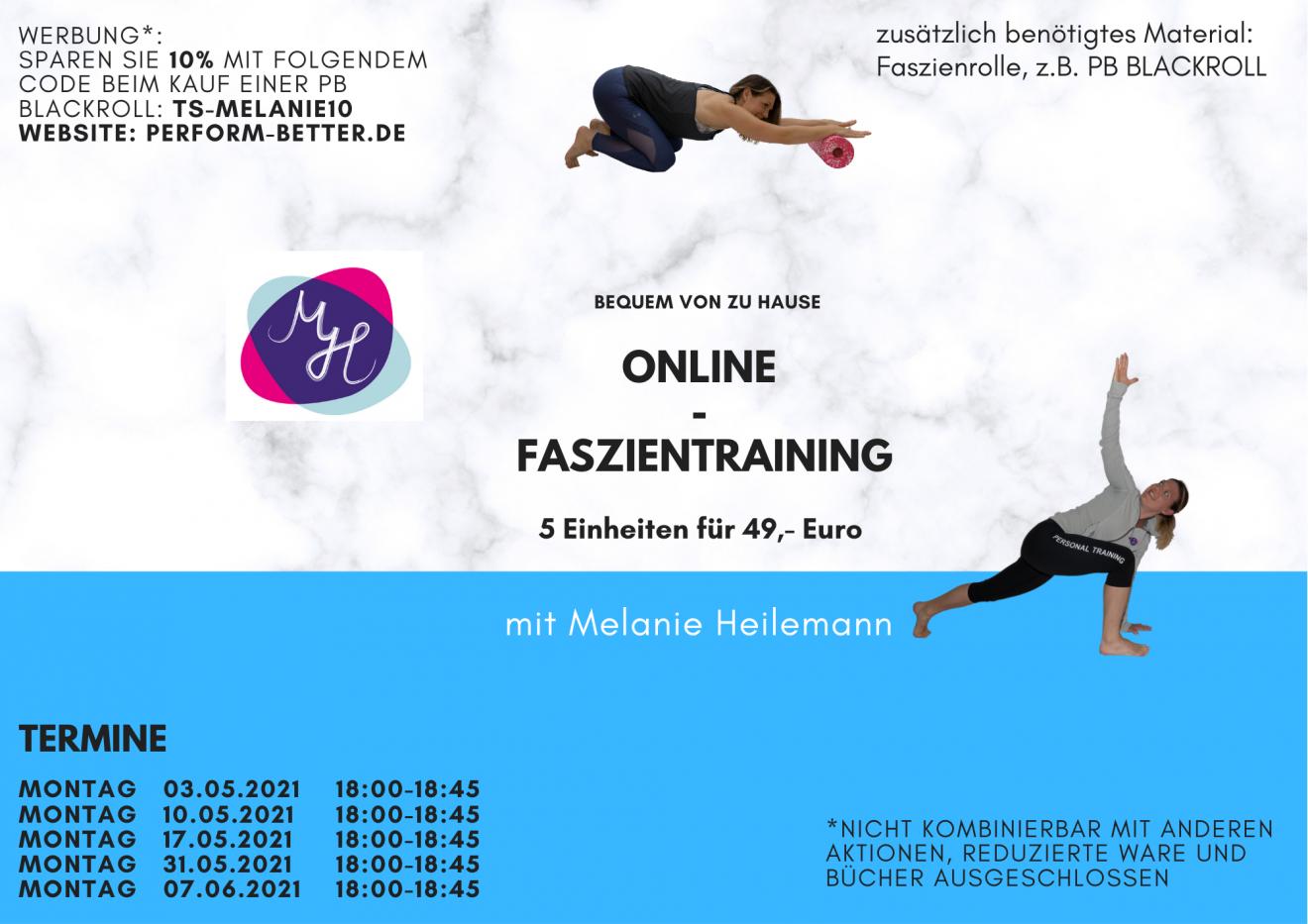 Online Faszientraining Mai 2021