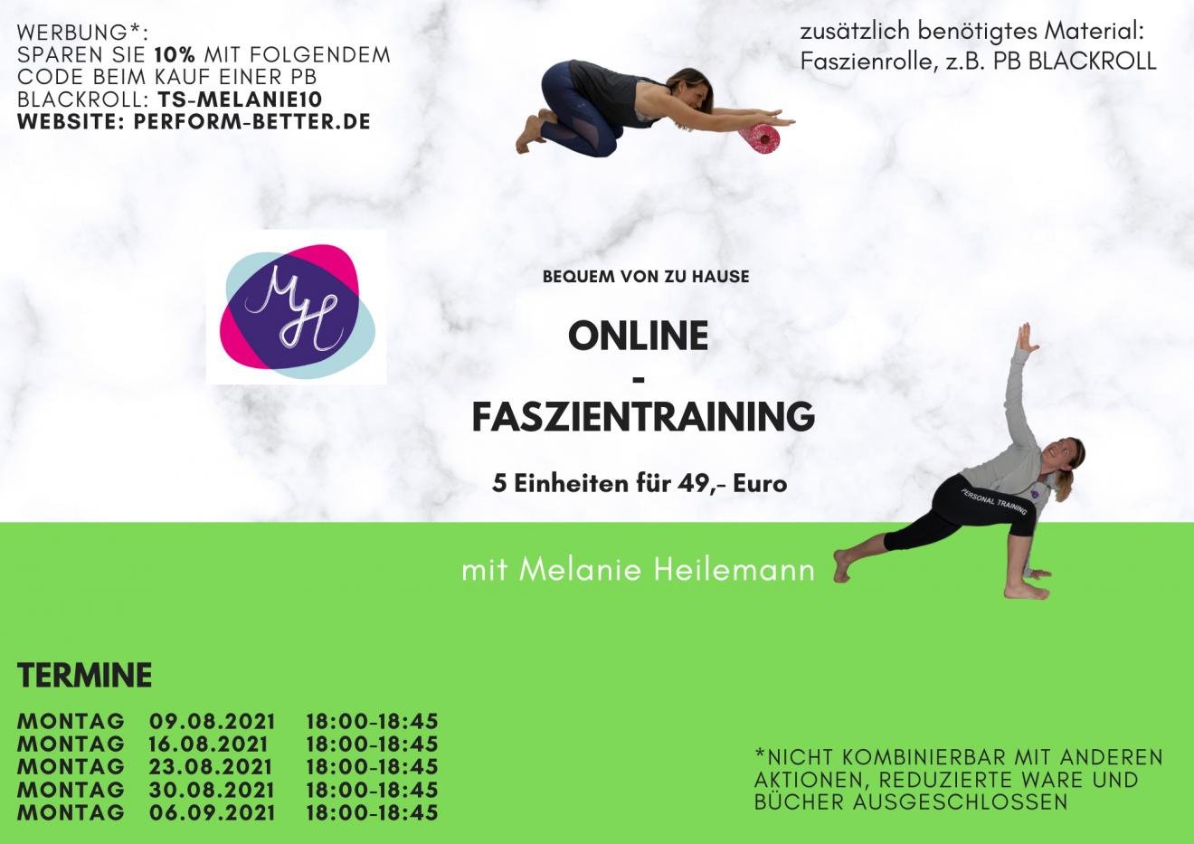 Beitragsbild Online Faszientraining August 2021